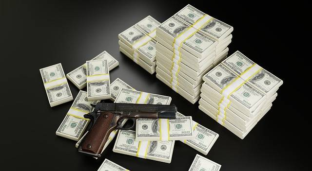 Money Dollars Gun - Free photo on Pixabay (568621)