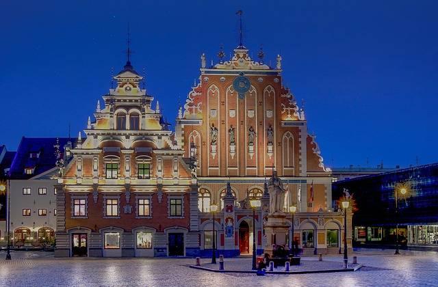 Latvia Night Capital Places Of - Free photo on Pixabay (569650)