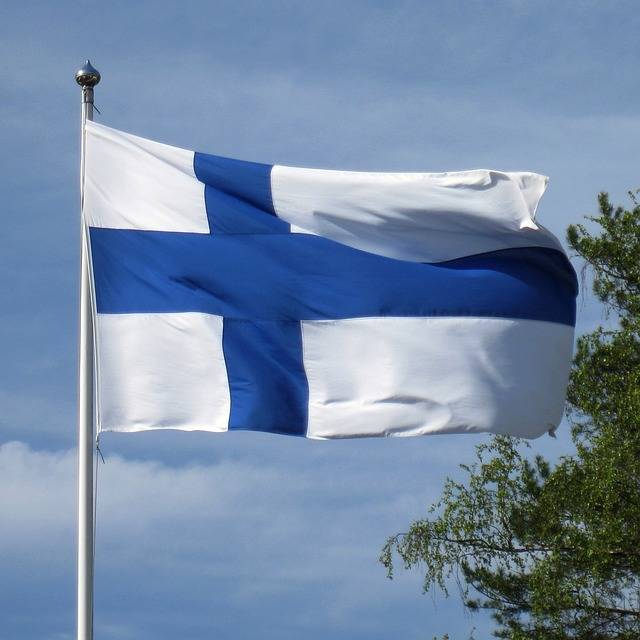 Flag Of Finland Blue Cross - Free photo on Pixabay (570655)