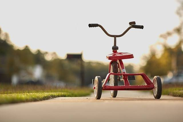 Tricycle Red Childhood - Free photo on Pixabay (572095)