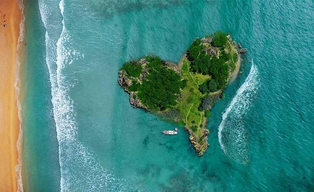 Island Heart Ocean - Free photo on Pixabay (575900)