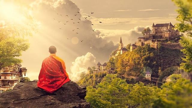 Meditation Buddhism Monk - Free photo on Pixabay (576545)