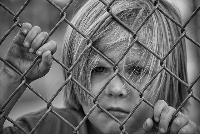 Boy Looking Fence Chain - Free photo on Pixabay (578812)
