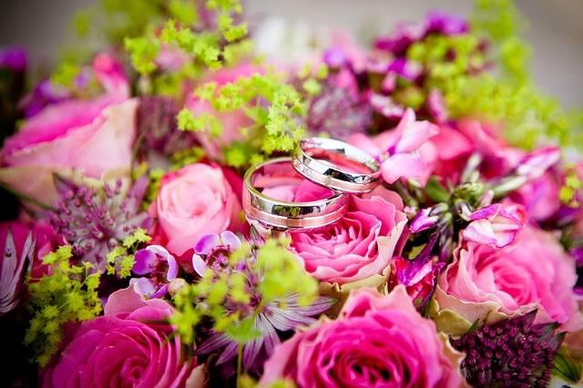 Flowers Wedding Rings - Free photo on Pixabay (581765)