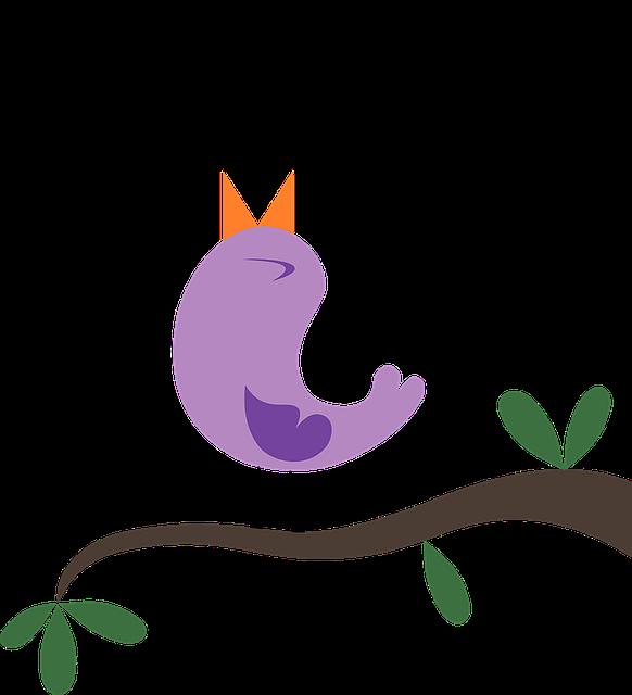 Bird Tweeting Singing - Free vector graphic on Pixabay (582830)
