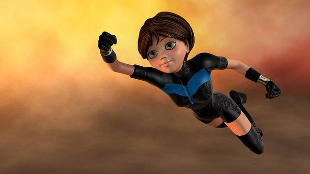 Super Woman Flying 3D Figure - Free image on Pixabay (582848)