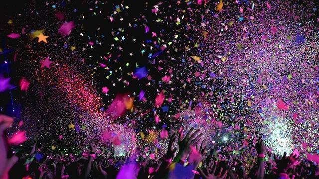 Concert Confetti Party - Free photo on Pixabay (582881)
