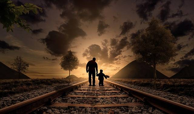 Father And Son Walking Love - Free photo on Pixabay (588695)