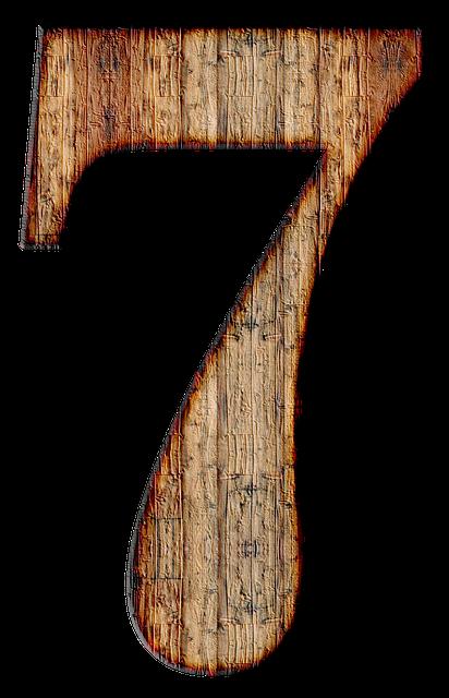 Number 7 Seven - Free image on Pixabay (591968)