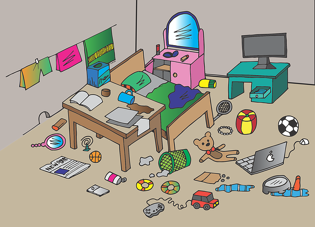Messy Bedroom Home - Free vector graphic on Pixabay (593119)