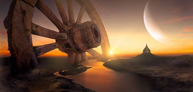 Fantasy Landscape Wheel - Free photo on Pixabay (595988)