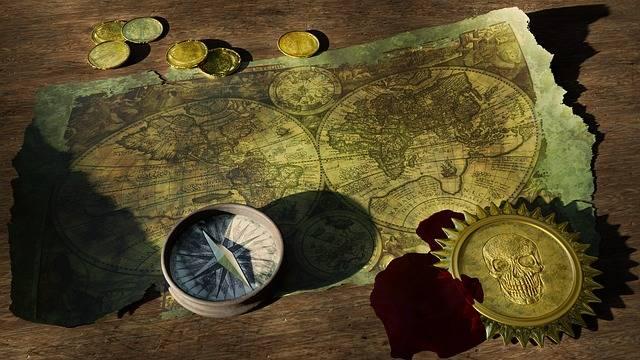 Adventure Treasure Map Old World - Free photo on Pixabay (596756)