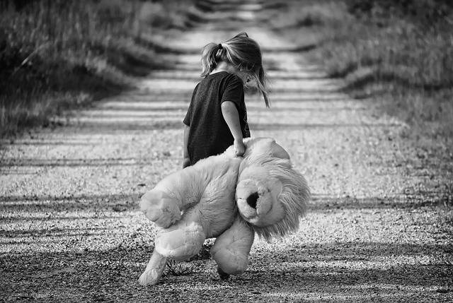Girl Walking Teddy Bear - Free photo on Pixabay (596871)