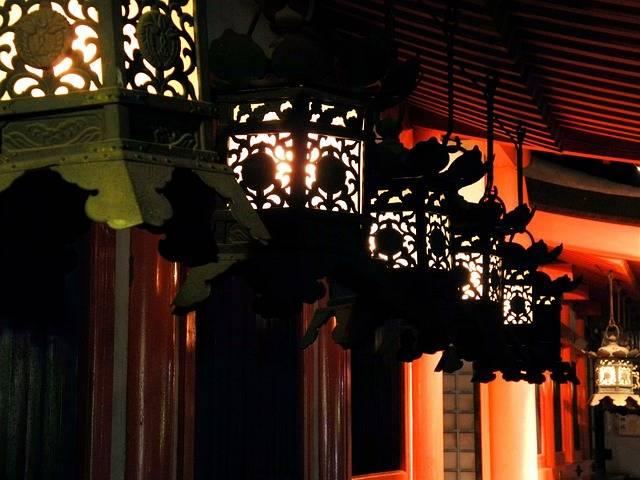 Lantern Kasuga Shrine Night - Free photo on Pixabay (598816)