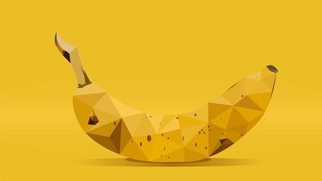 Banana Low Poly - Free image on Pixabay (600533)