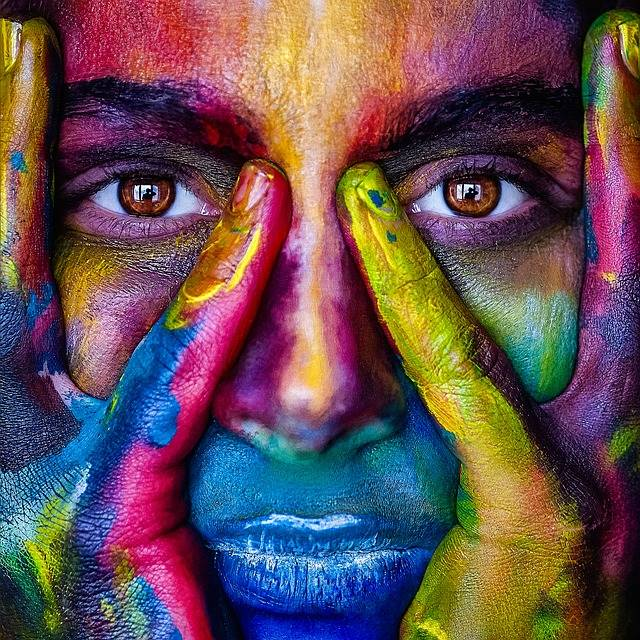 Girl Face Colorful - Free photo on Pixabay (610724)