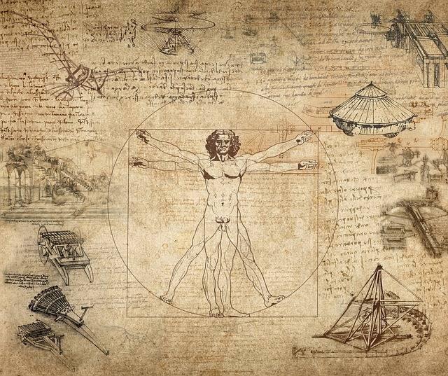 Collage Leonard Da Vinci Vitruvian - Free image on Pixabay (613416)