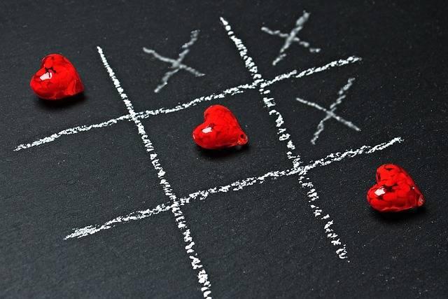 Tic Tac Toe Love Heart - Free photo on Pixabay (619310)