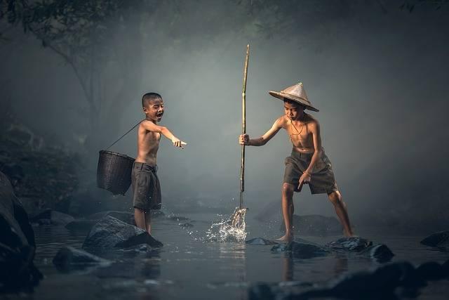 Children Fishing Teamwork - Free photo on Pixabay (623688)