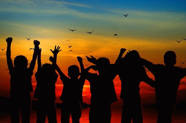Children Silhouette Cheers - Free photo on Pixabay (632841)