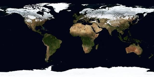 Earth Map Winter - Free photo on Pixabay (633375)