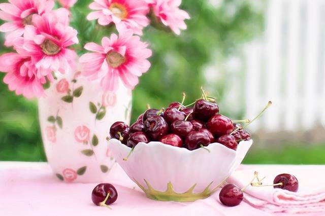 Cherries In A Bowl Fruit Summer - Free photo on Pixabay (638935)