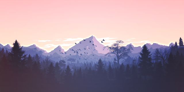 Mountains Panorama Forest - Free vector graphic on Pixabay (650071)