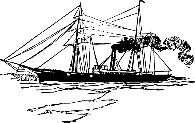 Steamer Steam Power Maritime - Free vector graphic on Pixabay (660855)