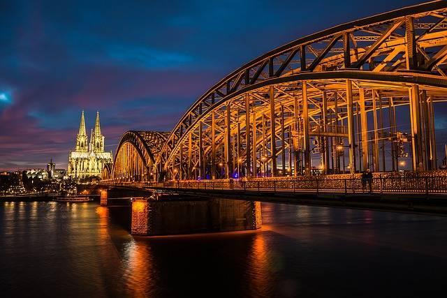 Cologne Rhine Night - Free photo on Pixabay (660924)