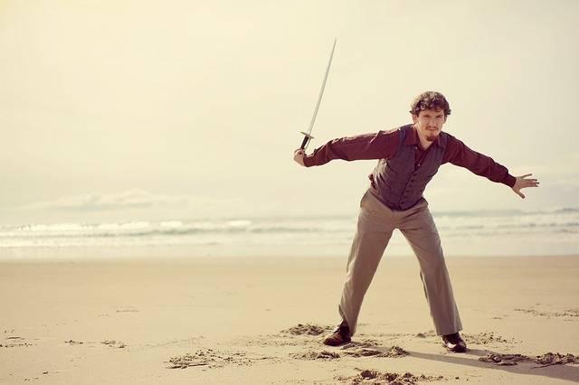 Man Sword Catch - Free photo on Pixabay (661098)