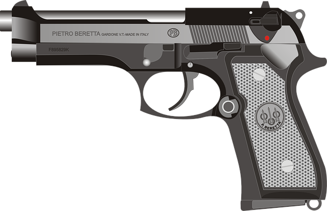 Beretta Pistol Gun - Free vector graphic on Pixabay (682495)