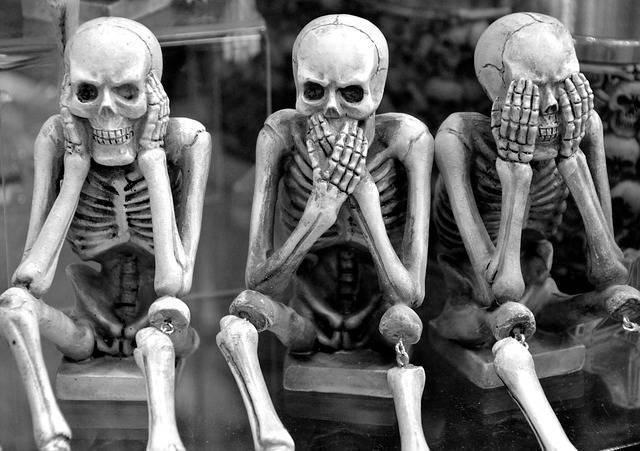 Skeletons Funny Hear No Evil Speak - Free photo on Pixabay (690757)