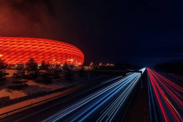 Football Stadium Highway Night - Free photo on Pixabay (700203)