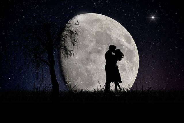 Moon Lovers Moonscape - Free image on Pixabay (704529)