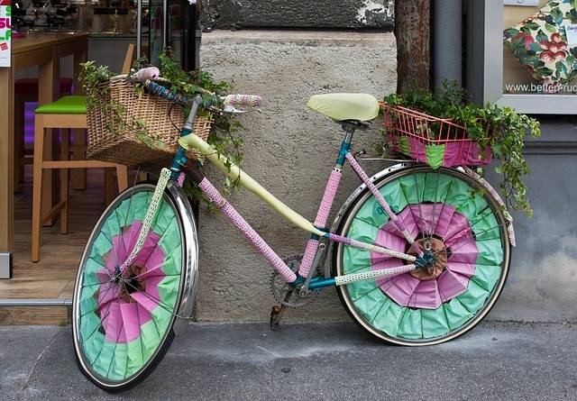 Bicycle Decorated Crochet - Free photo on Pixabay (710732)