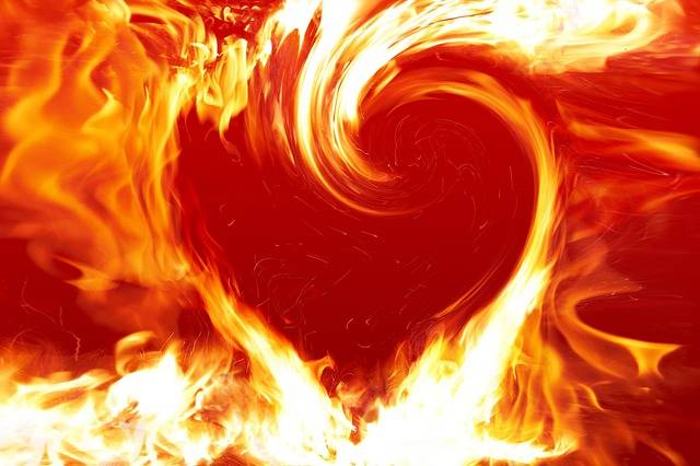 Fire Heart - Free image on Pixabay (724670)