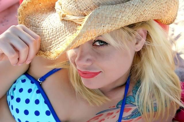 Hat Bikini Model - Free photo on Pixabay (726762)