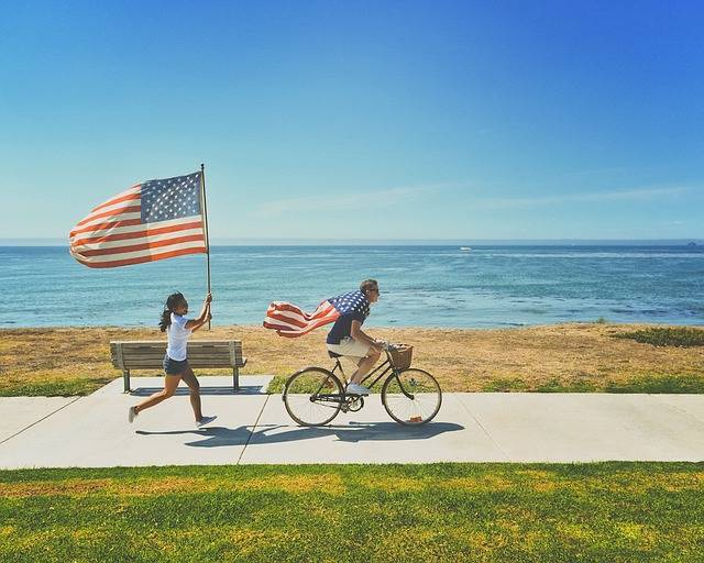 American Flags Beach Bench - Free photo on Pixabay (729320)