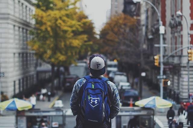 Backpack Male City Street - Free photo on Pixabay (730457)