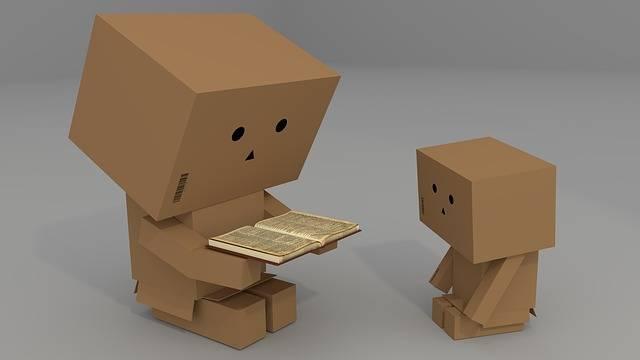 Carton Males Book Read Child - Free image on Pixabay (731485)
