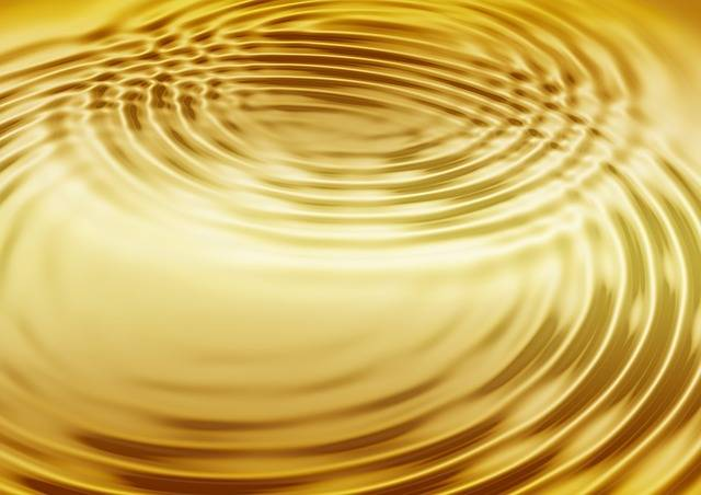 Wave Gold Concentric Waves - Free image on Pixabay (735340)
