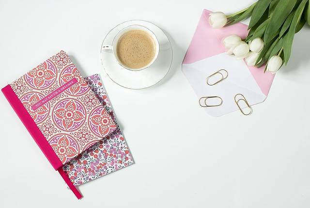 Coffee Flowers Notebook Work - Free photo on Pixabay (736998)