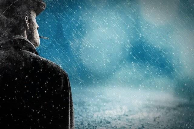 Man Rain Snow - Free photo on Pixabay (741582)