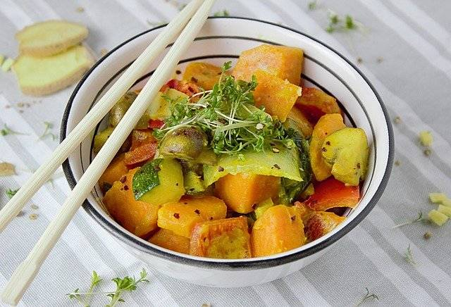 Curry Vegetables Vegetarian - Free photo on Pixabay (745618)