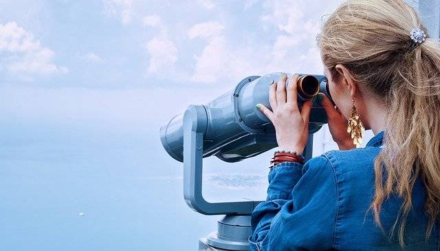 Girl Sea Binoculars - Free photo on Pixabay (747147)