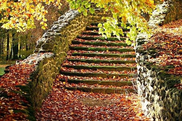 Autumn Stairs Fall Foliage Stair - Free photo on Pixabay (747268)