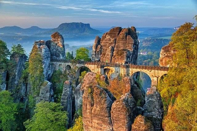 Bastei Bridge Saxon Switzerland - Free photo on Pixabay (747324)