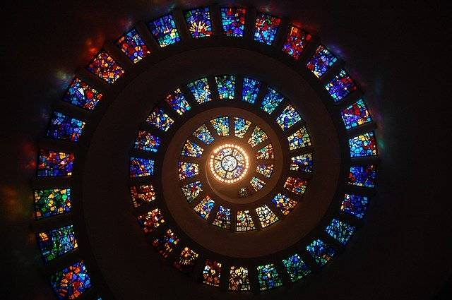 Stained Glass Spiral Circle - Free photo on Pixabay (749707)