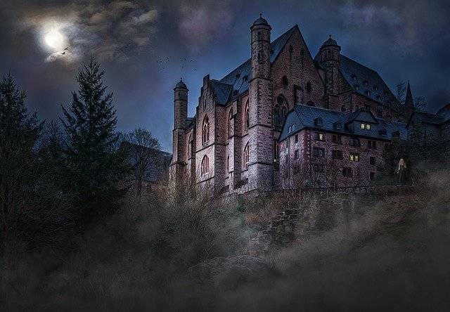Castle Mystical Mood Night - Free photo on Pixabay (750173)