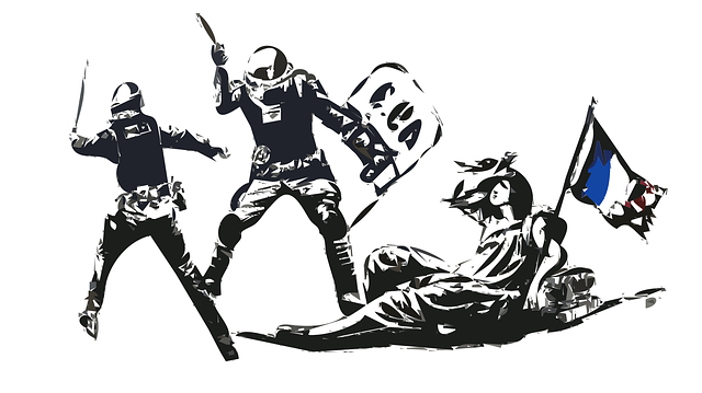 France Police Revolution - Free vector graphic on Pixabay (750945)